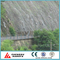 Slope Protection - Stainless steel wire rope mesh net and spiral rope net