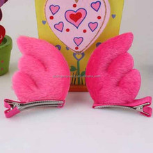 2017 New style plush Angel wings baby hair clip