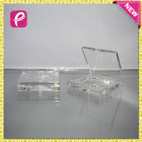 2016 new transparent square empty blush compact powder case