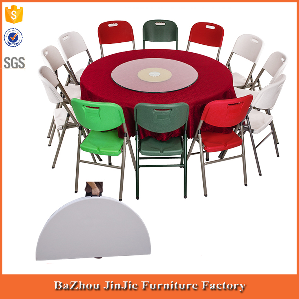 10 people round folding table small plastic round table round dining table with folding leg