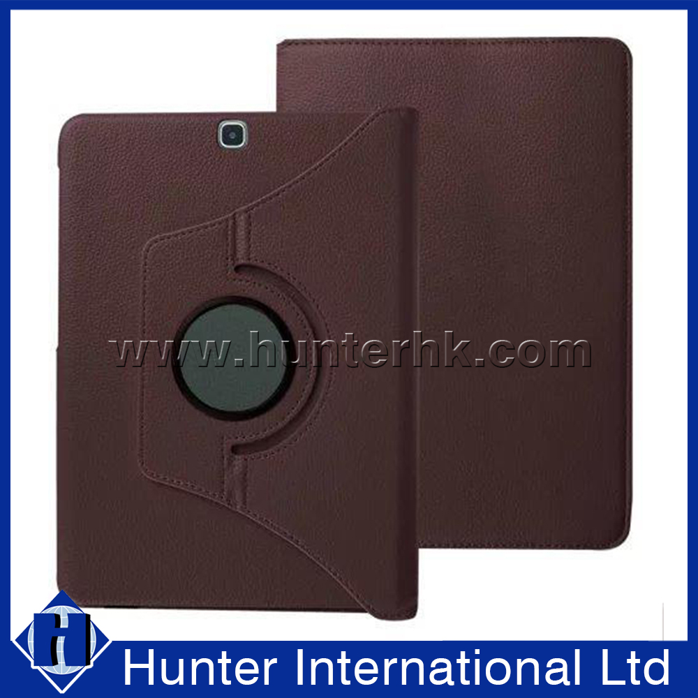 Litchi Leather Rotating Tablet Case For 7-8 Inch