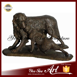 Customed Modern Garden Life Size Bronze Dog Sculpture