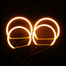 led light cotton smd angel eyes headlights e46 yellow smd cotton angel eyes for bmw e46