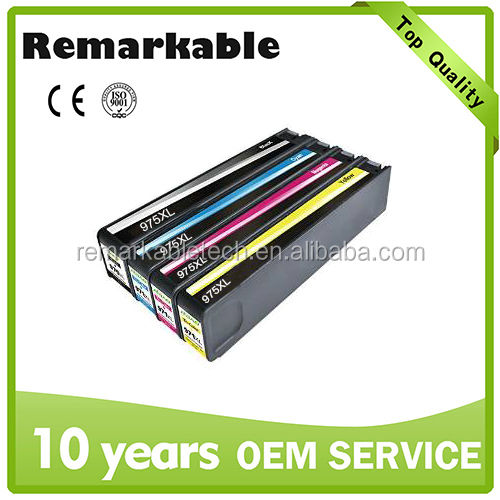 Newest model for HP inkjet cartridge 975 976 compatible ink cartridge
