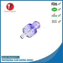 Plastic non return air medical check valve