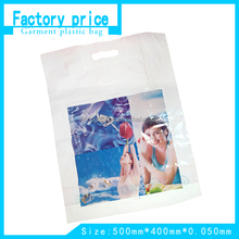 PE Plastic Packing Bag for Garment with Die Cut Handle