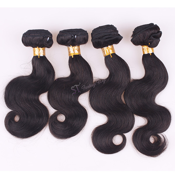 ST wholesale virgin brazilian body wave unprocessed human hair weave with double sewing