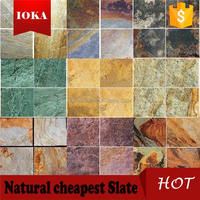 Square Shape Floor Tile Natural Rustic Slate