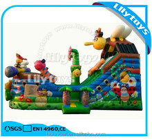 2017 High quality bee design inflatable slides guangzhou for children