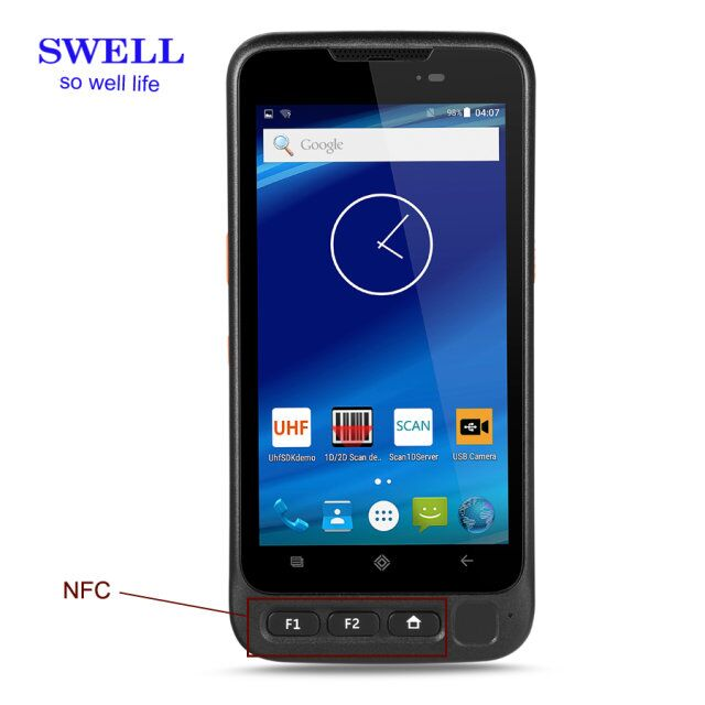 5 inch MTK6580 quad core IP67 Waterproof Android 7 4G Rugged mobile phone smartphone without camera RFID PDA