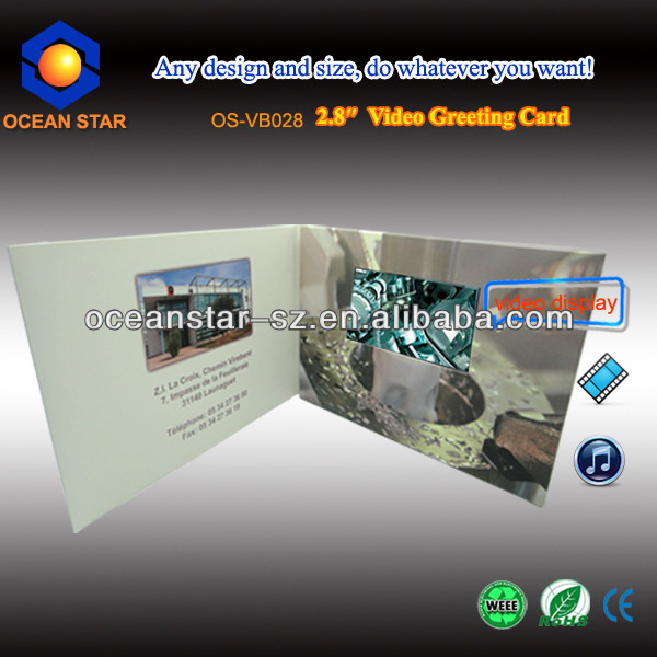 Beautiful Novel Video Greeting Card With Recording Camera