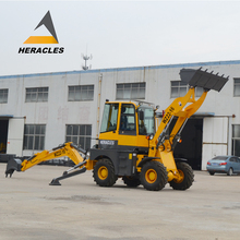 Heracles mini 4WD towable backhoe loader for sale
