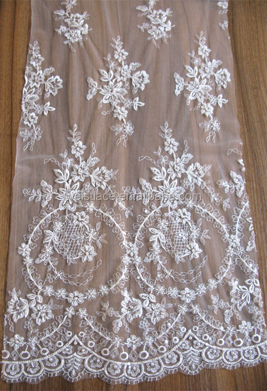 HOT!!!!New Lace Design Embroidered High Quality Tulle Lace Fabric/soft Tulle Lace Fabric/ French Net Lace Tulle Lace For Bridal