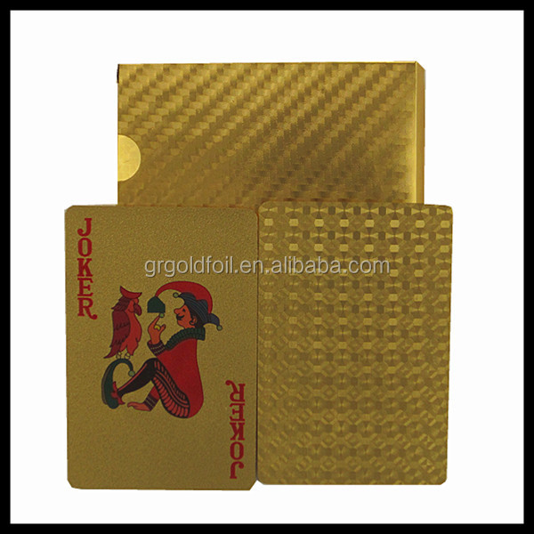 24k gold custom design playing cards