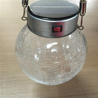 cixi decorative glass ball colorful solar street hanging light