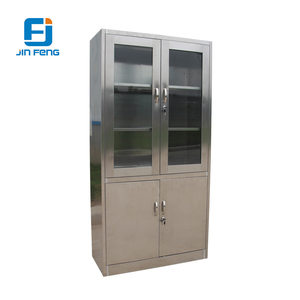 Rustproof Almirah with Glass Door / Stainless Steel Cabinet