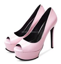 Pink Color Evening Party Queen Open Toes Super Platform Wedding High Heels pumps Women Shoes
