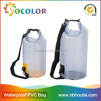 10L High quality Clear Vinyl Pvc Zipper Bags waterproof diving bag