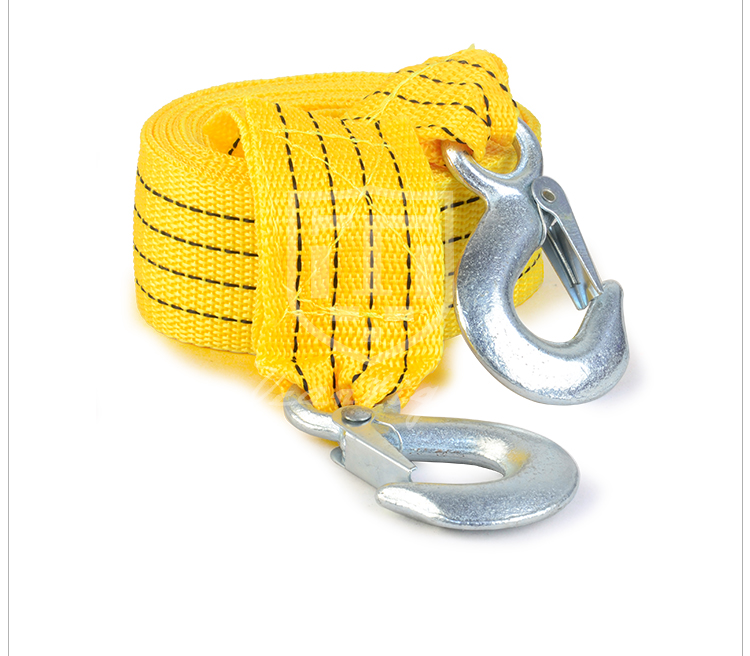 6.5T 3.5M Heavy Duty Custom Car Tow Rope Tow Strap With Hooks