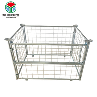 Warehouse logistics wiremesh container industrial crates strong storage cages warehouse steel cage