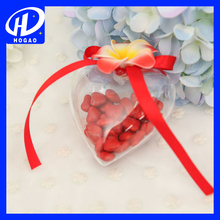 Clear Plastic Heart Shaped Ball Circle Hang Ornaments Favor Candy Crafts
