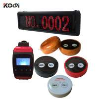 Wireless waiter service calling pager system Bell Caller K-800 Wrist Watch Y-650 With 2-key Transmitter Call Pager System