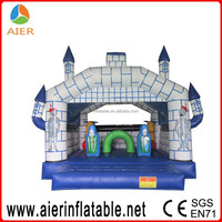 Bountiful attractive blue white kids inflatable jumping castle