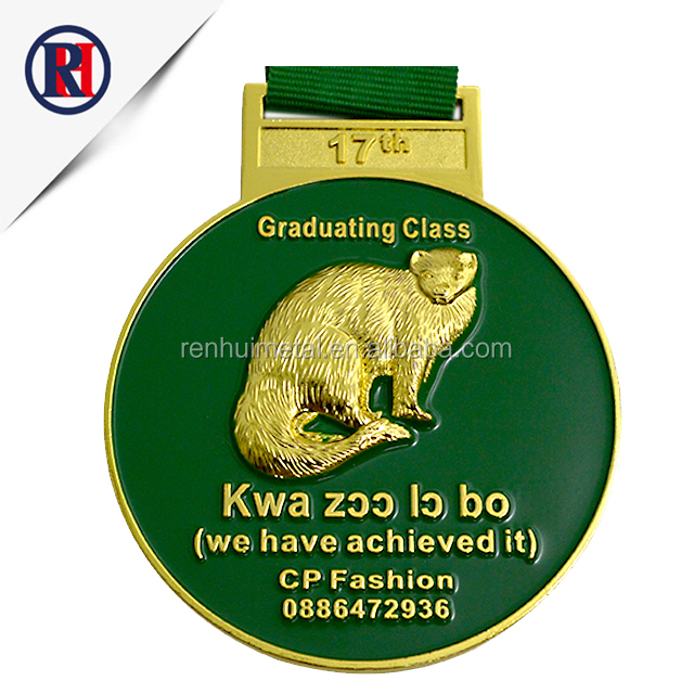 Design wholesale custom gold nickel medallion high polish blank sport award medal
