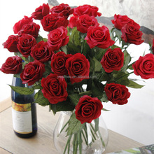 2016 Yiwu Aimee wholesale love red rose latex artificial flower(AM-JM03)