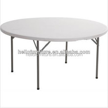 Dia 4 fts fold-in-half round plastic table