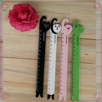 Low price office supplies and stationery wholesale school fashion cute animal shaped flexible plastic ruler free samples