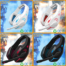 Glowing vibrated 7.1 sound track USB gaming headsets for xbox PS4 PS3 360