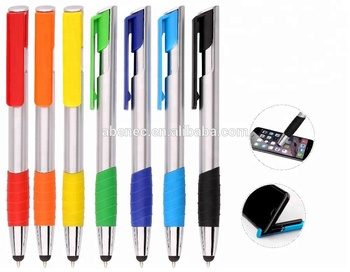 Advertising practica stylus l ball pen with phone holder for promotion