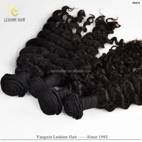 2015 New Arrival Good Feedback High Quality Remy Full Cuticle natural hair dyes black