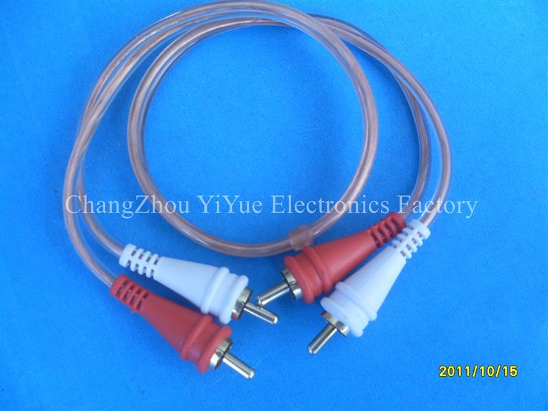 YiYue Factory high end rca cable , black and yellow speaker cable