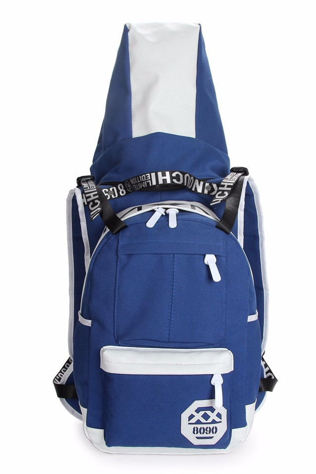 Innovative fashion unique school backpack with hat for students and hiking activities