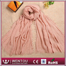 Gorgeous and simple design soft loop acrylic fold scarf