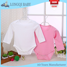 hot selling new design baby rompers plain 100% cotton new born baby clothes