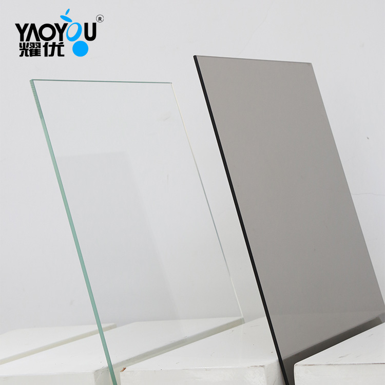 Competitive price 6mm Tinted Tempered Mirror Glass For curtain wall
