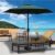 9ft easy installation UV protection wood beach parasol umbrella