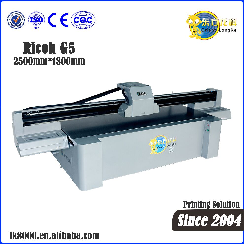 Industrial Digital Flatbed LK-2513 Pro UV Printer for Acrylic / Glass/ Phone case/ Ceramic Printing Machine