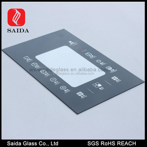 3mm precision black silk printing tempered glass panel for controlled mechanical ventilation control panel