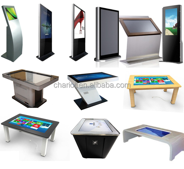ChariotTech great price, infrared multi touch light table with 4:3 and 16:9 fromat,dual-touch for interactive advertising
