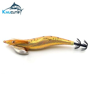 CHS012 New style shiny squid jig luminous tail with hook quality squid jig 2.5# for octopus fishing