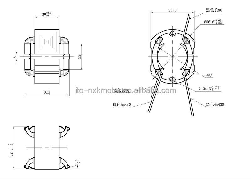 12v  24v  36v dc motor rotor  u0026 stator