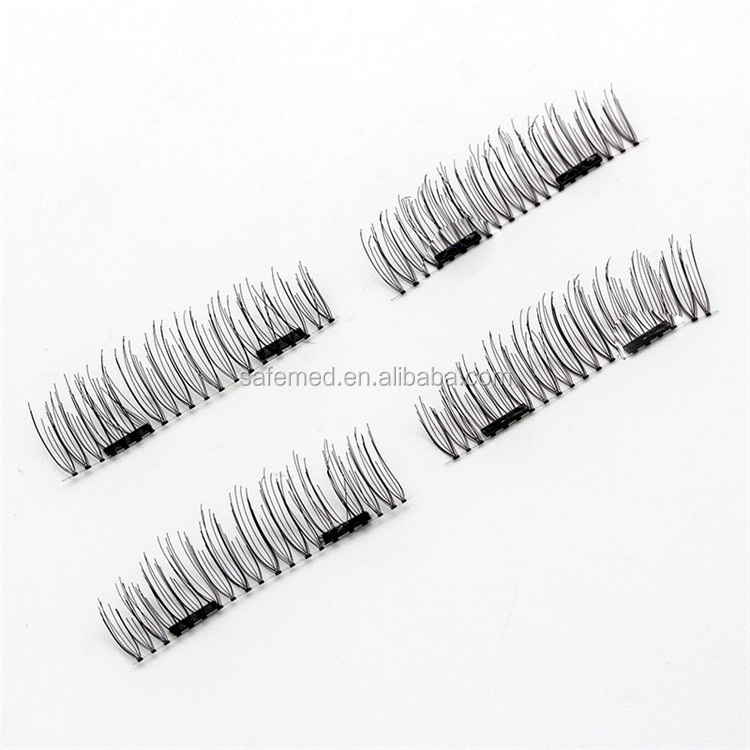 2017 Hot Magnetic Eyelashes Magnetic Eyelashes with Double Magnet 3D Reusable No Glue Fake Eye Lashes