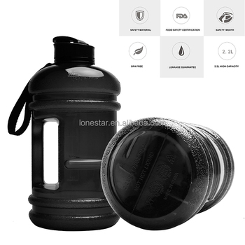 Popular black water jug made with PETG plastic