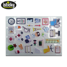 Wholesale high quality non removable 3D reusable puffy stickers