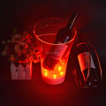 LED transparent ice bucket holder
