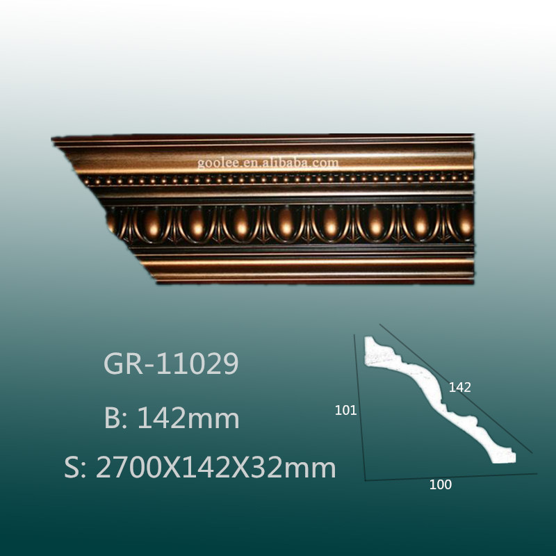 Economical Polyurethane Wall Panelling- Carving Cornice Moulding